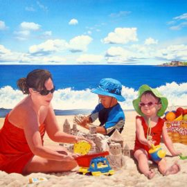 Beach Painting for Hasbro Children's Hospital in Providence, Rhode Island by Artist Charles C. Clear III of Ocean State Art