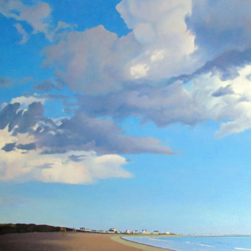 "East Matunuck State Beach Painting, 24"" x 36"", Oil on Canvas, 2016, by Artist Charles C. Clear III of Ocean State Art"