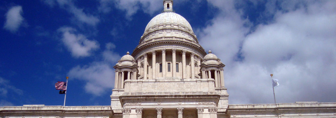 The Rhode Island State House in Providence, Rhode Island