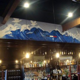 Grey Goose Mural, 21' x 4', Restaurant in East Greenwich, RI, 2017, by Artist Charles C. Clear III