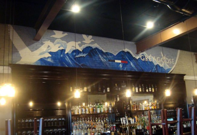 Grey Goose Mural, 21' x 4', Restaurant in East Greenwich, RI, 2017, by Artist Charles C. Clear III