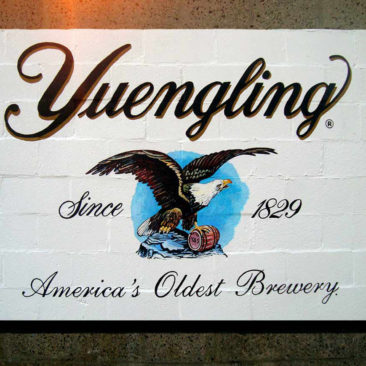 Yuengling Beer Logo Painted Sign by Artist Charles C. Clear III
