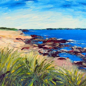 Shoreline Study Plein Air Painting by Rhode Island Artist Charles C. Clear III