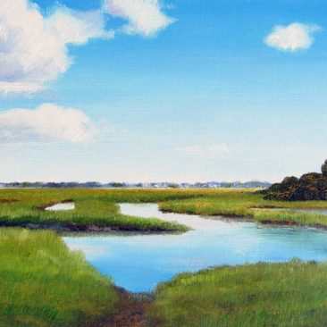 Matunuck Marsh Plein Air Painting by Rhode Island Artist Charles C. Clear III