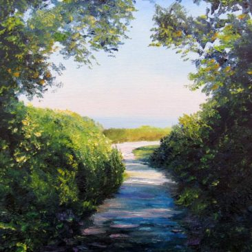 Black Point Path Plein Air Painting by Rhode Island Artist Charles C. Clear III
